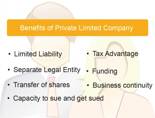 advantage of limited company Definition of private limited company: a type of company that offers limited liability, or legal protection for its shareholders but that places certain restrictions.