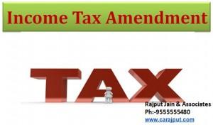 www.carajput.com; Income Tax Amendment