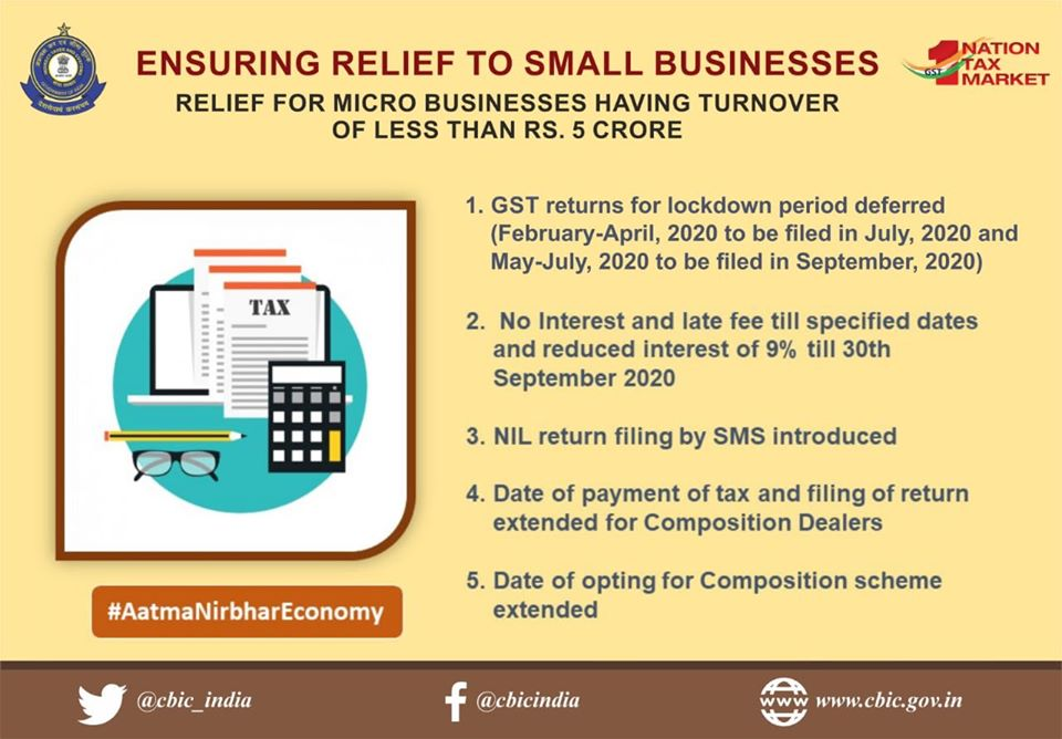 www.carajput.com;GST Relief to small business