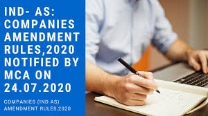 www.carajput.com;MCA Amendment rules,2020; IND AS
