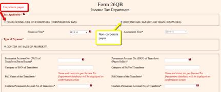 www.carajput.com;TDS Form 26QB