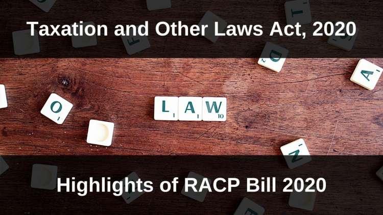 www.carajput.com; RACP Bill, 2020