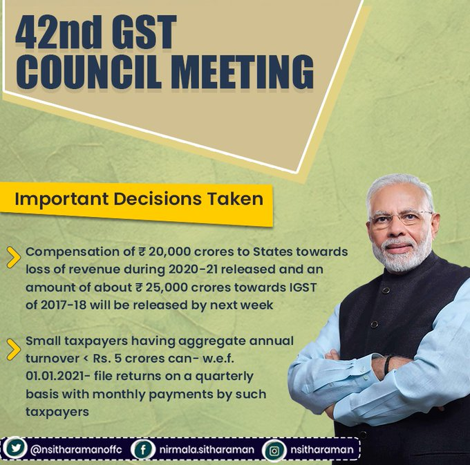 www.carajput.com; 42 GST council meeting