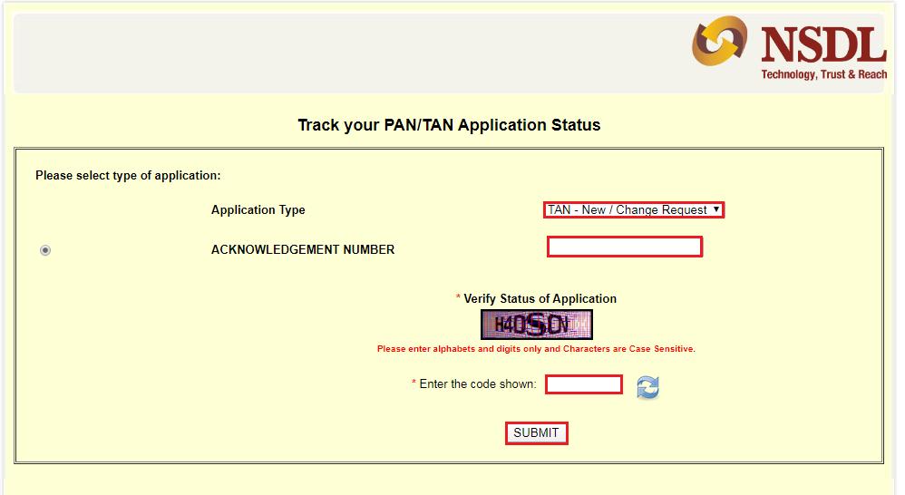 www.carajput.com; TAN Application